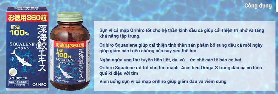 Sụn vi cá mập Squalene Orihiro 360 viên 3