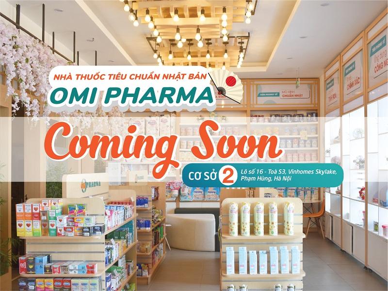 [COMING SOON] Nhà thuốc Omi Pharma chuẩn bị khai trương cơ sở 2 tại Vinhomes Skylake Phạm Hùng, Hà Nội