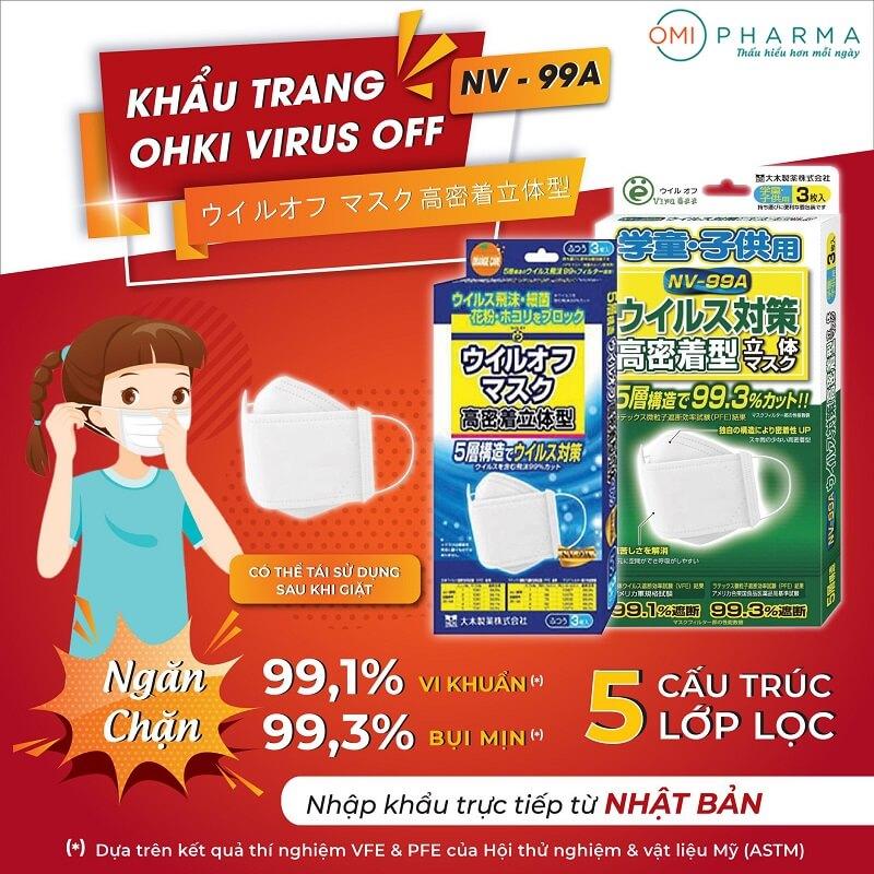 Omi Pharma tặng 300 hộp khẩu trang Ohki Virus OFF cho trẻ em - Đồng hành cùng cộng đồng cư dân chống dịch-1