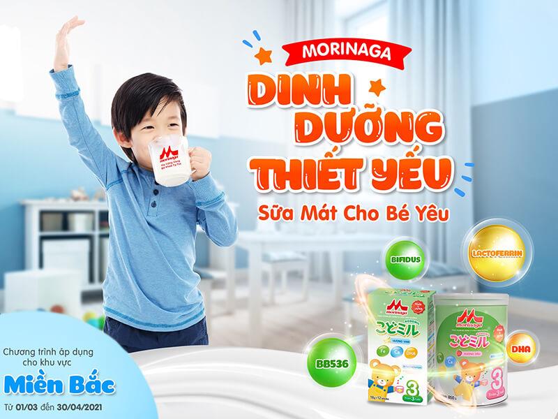 """""""Dinh dưỡng thiết yếu - Sữa mát cho bé yêu"""" - Đến Omi Pharma nhận quà Morinaga vui hết ý"""