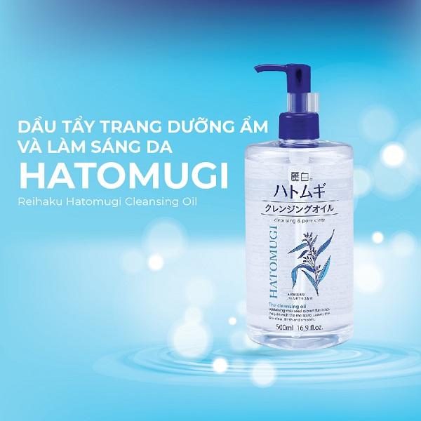 Dầu tẩy trang Hatomugi Nhật Bản dưỡng ẩm và làm sáng da (Chai 500ml)-1