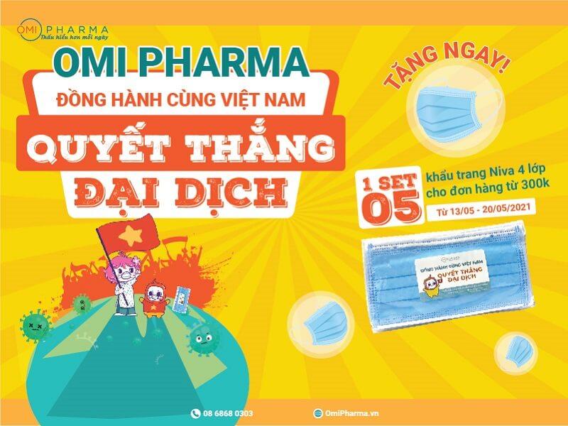 Omi Pharma đồng hành cùng Việt Nam quyết thắng đại dịch
