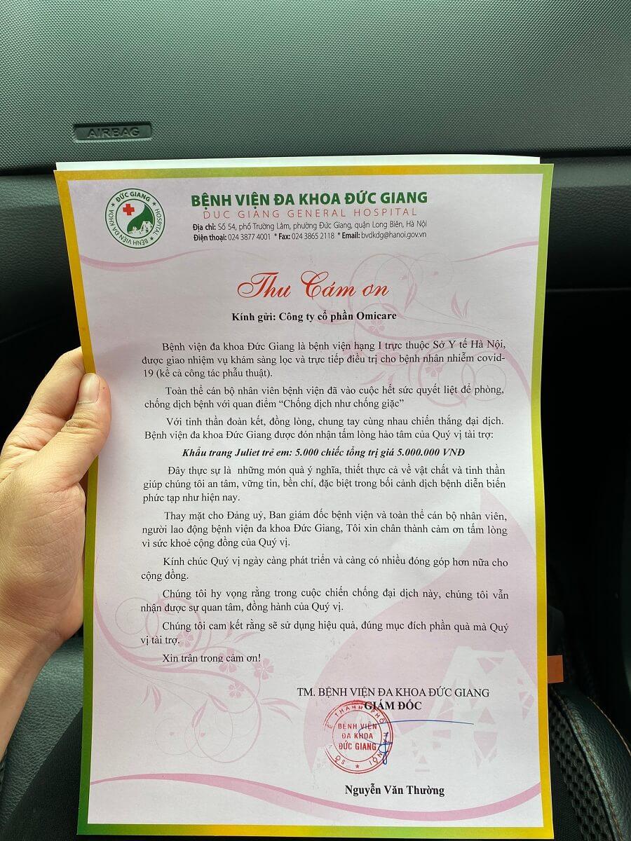 OmiCare đồng hành cùng Hội thầy thuốc trẻ Việt Nam chung tay chống dịch Covid-19