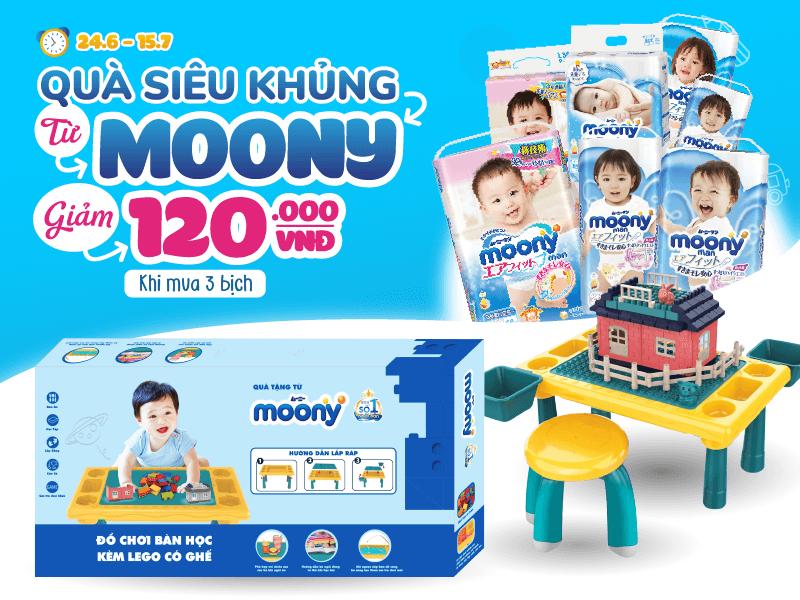 Ngập tràn quà tặng - Hưởng ngàn ưu đãi khi mua tã giấy Moony tại Omi Pharma